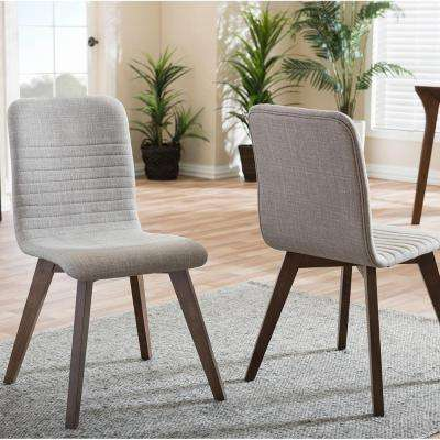 Sugar Light Gray Fabric Upholstered Dining Chairs (Set of 2)