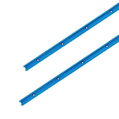 48 in. Double-Cut Profile Universal T-Track with Predrilled Mounting Holes (2-Pack)