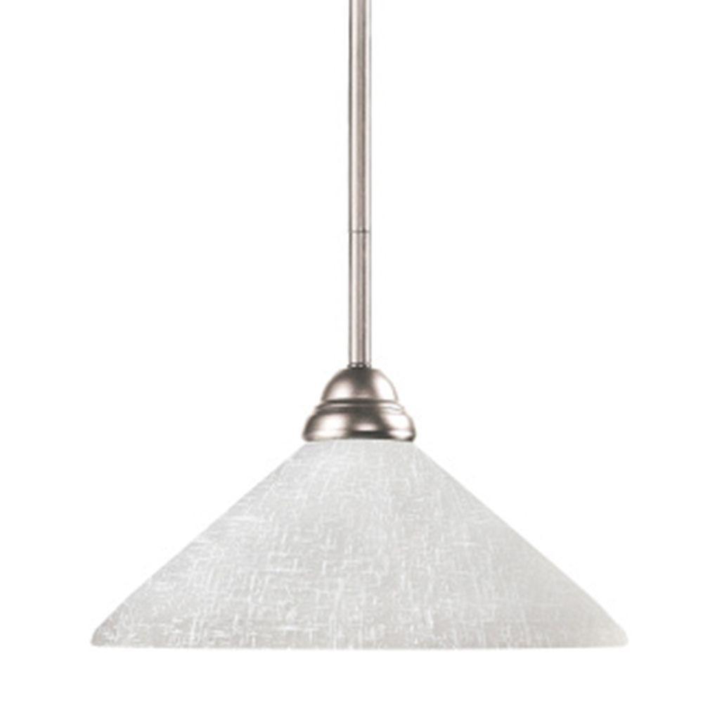 Lawrence 1-Light Brushed Nickel Mini-Pendant