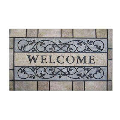 Welcome Stone 24 in. x 36 in. Door Mat