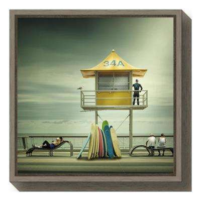 """The life guard"" by Adrian Donoghue Framed Canvas Wall Art"
