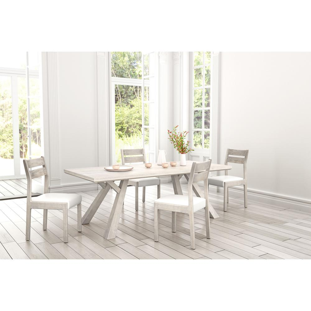 Zuo Beaumont Sun Drenched Acacia Round Rectangular Dining