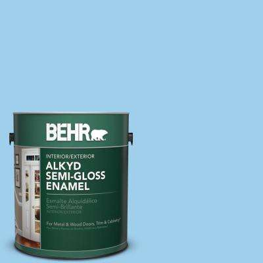 1 gal. #P510-2 Mediterranean Charm Semi-Gloss Enamel Alkyd Interior/Exterior Paint