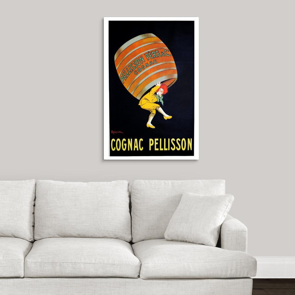 """""""Cognac Pellisson - Vintage Liquor Advertisement"""" by Vintage Apple Collection Canvas Wall Art"""