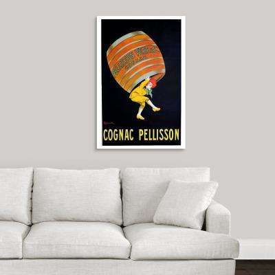 """Cognac Pellisson - Vintage Liquor Advertisement"" by Vintage Apple Collection Canvas Wall Art"