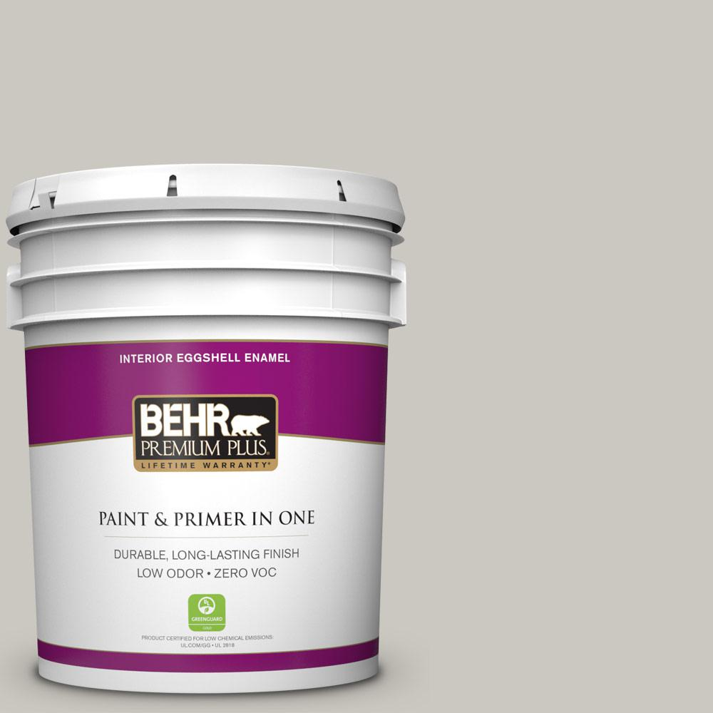 BEHR Premium Plus 5 gal. #PPU24-12 Whitewash Oak Zero VOC Eggshell Enamel Interior Paint, Grays