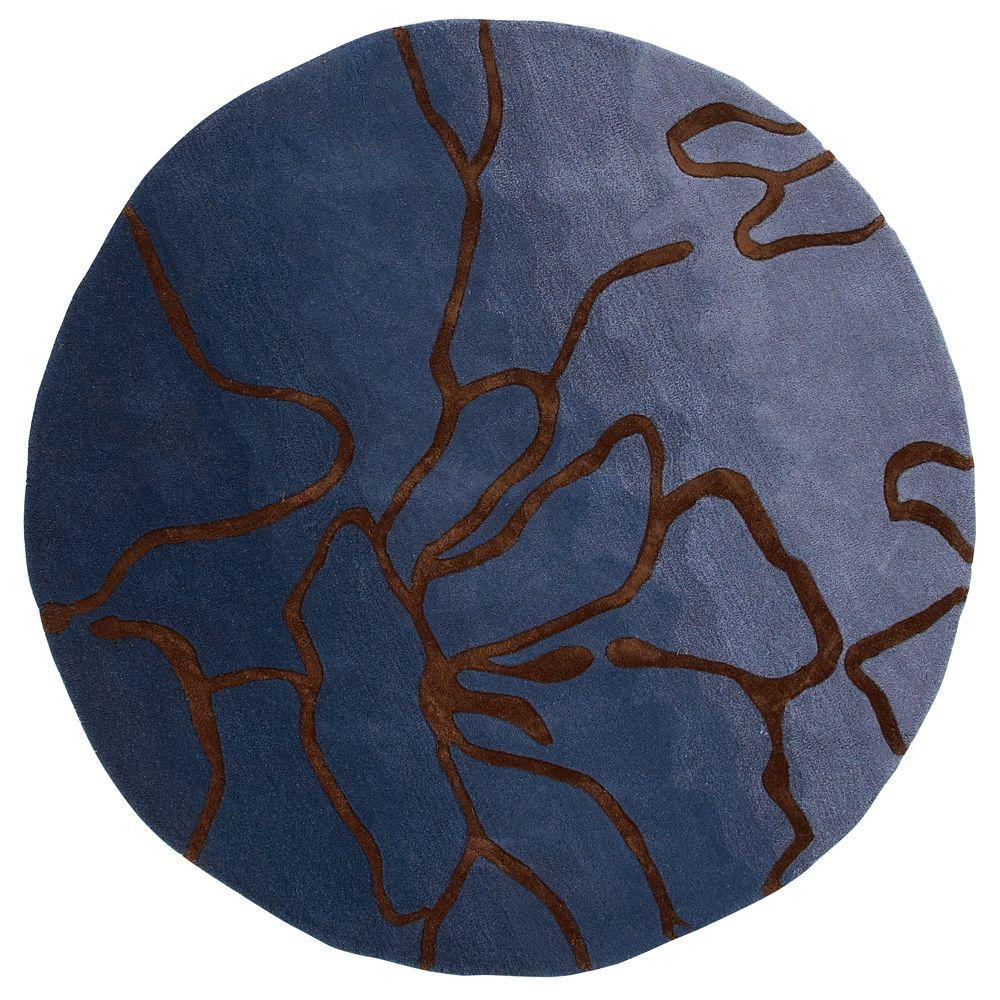 Atlas Blue 7 ft. 9 in. Round Area Rug