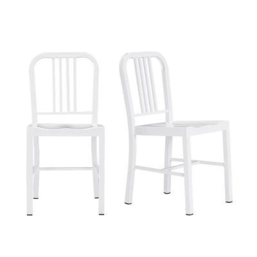 Kipling White Metal Dining Chair (Set of 2) (15.94 in. W x 32.67 in. H)