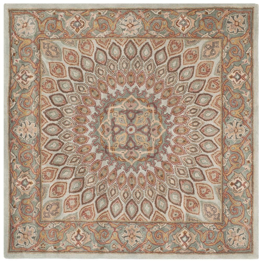 Safavieh Heritage Blue Gray 8 Ft X 8 Ft Square Area Rug