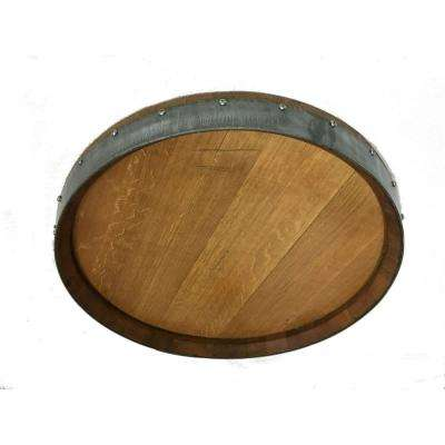 23 in. x 23 in. Reclaimed Oak Barrel Head Wall Plaque by Master Garden Products