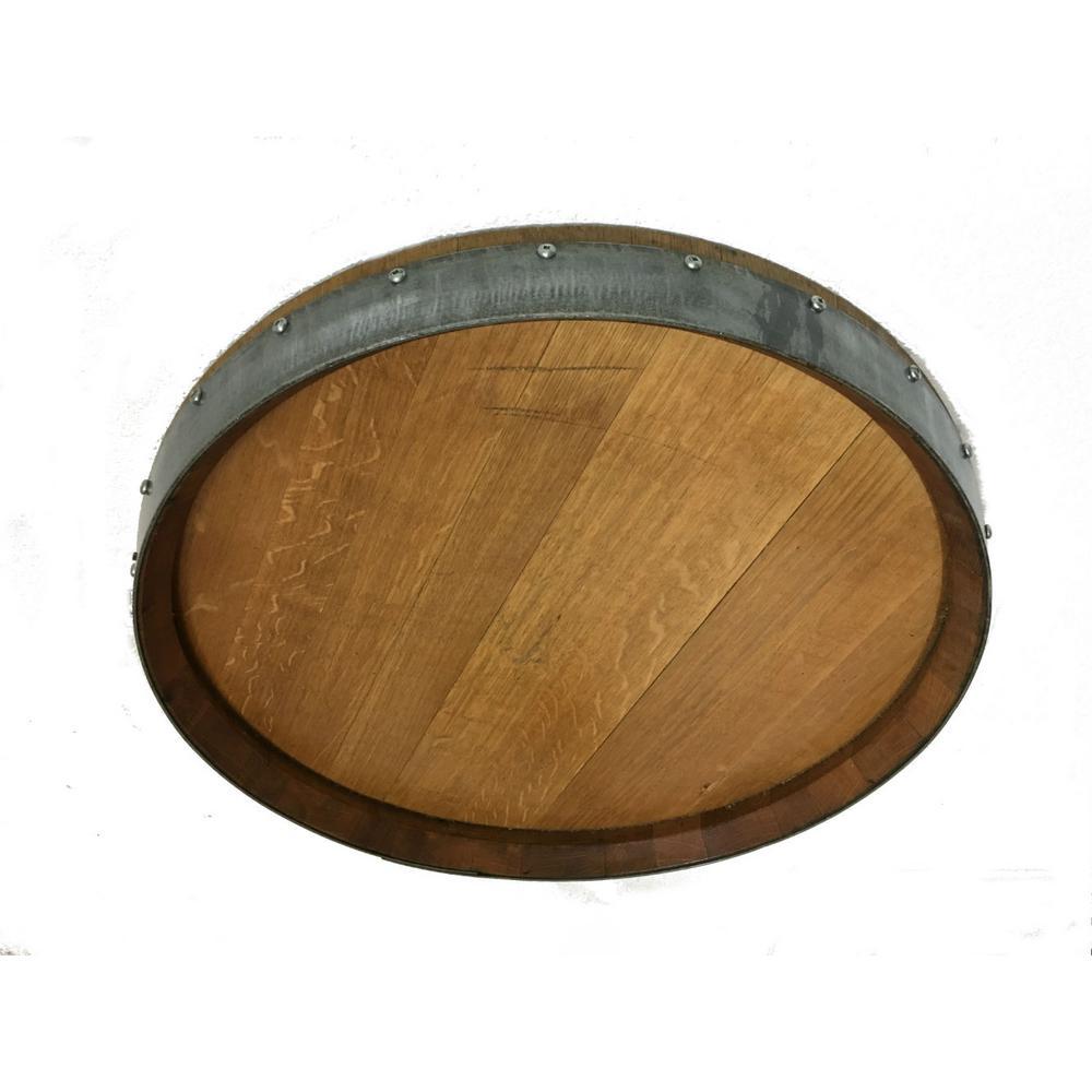 Mgp 23 In X 23 In Reclaimed Oak Barrel Head Wall Plaque