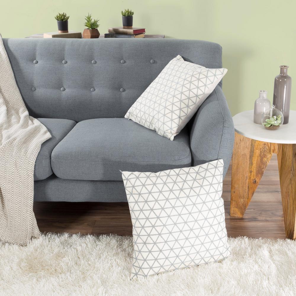 Modern Triangle Silver Decorative Pillow