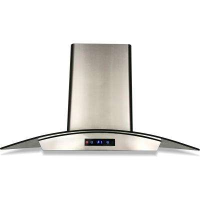 36 in. Ducted Wall-Mounted Range Hood in Stainless Steel