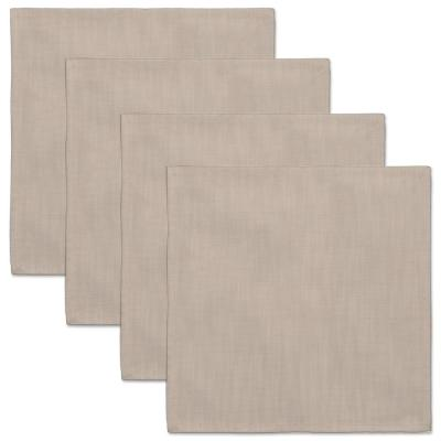 Natural Wovens 18 in. x 18 in. Oyster Polyester Napkin (Set of 4)