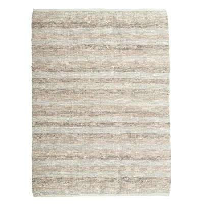 Beige and Grey 4 ft. x 6 ft. Striped Area Rug