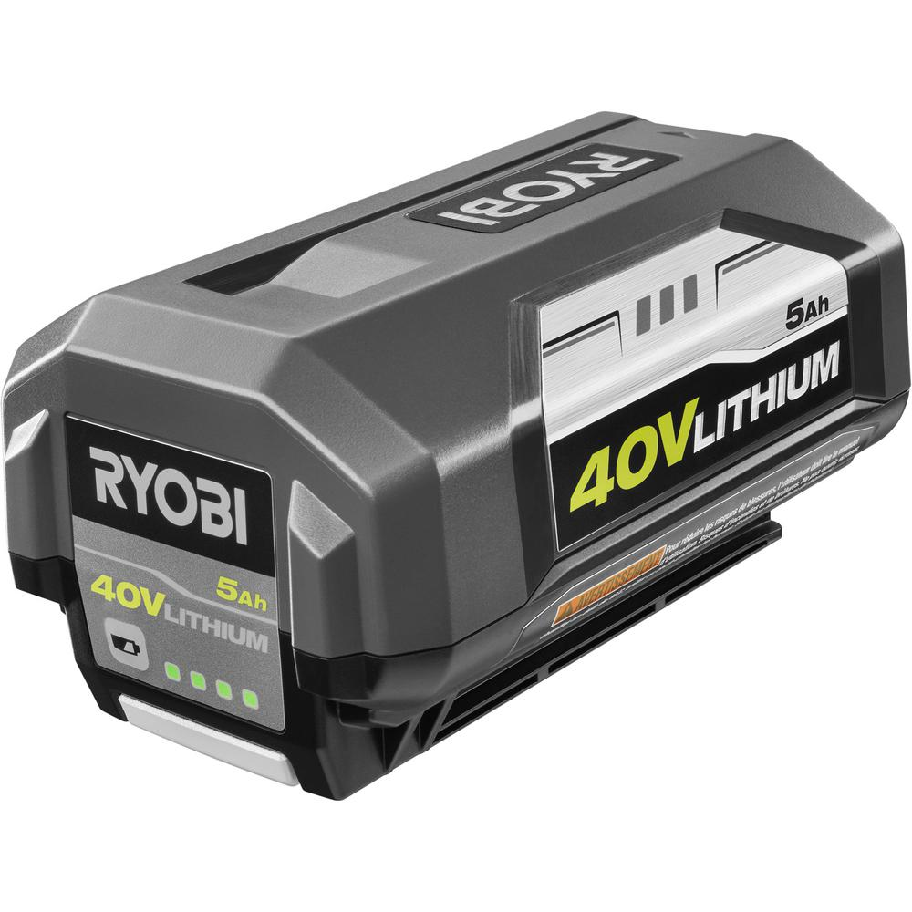 ryobi high capacity battery 40 volt lithium ion 5 ah. Black Bedroom Furniture Sets. Home Design Ideas