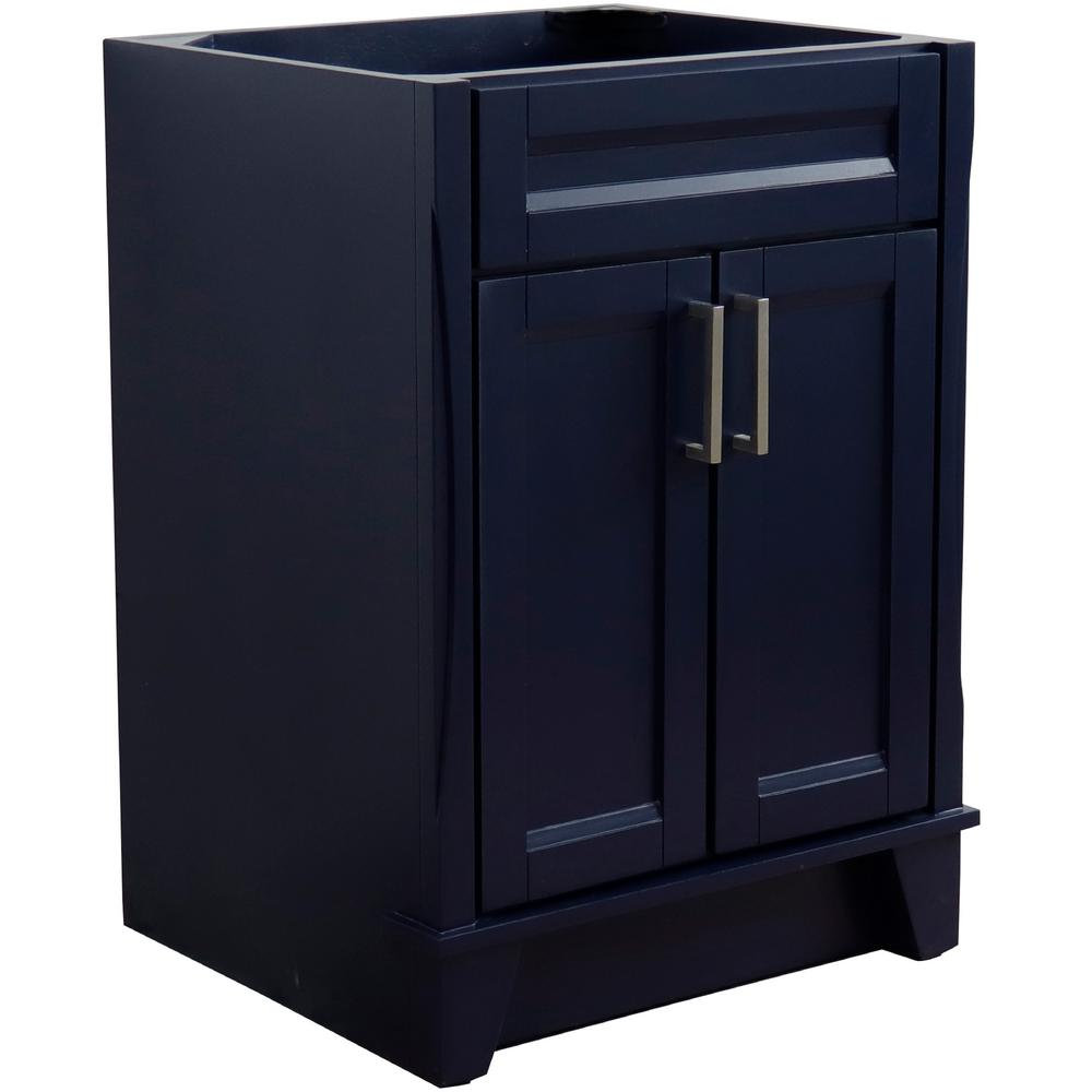 Bellaterra Home 24 in. W x 21.5 in. D Single Bath Vanity Cabinet Only in Blue