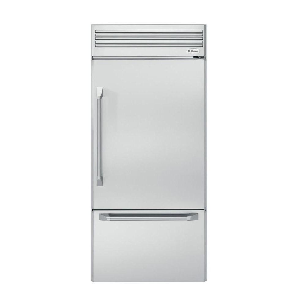 Counter depth refrigerators home depot - Bottom Freezer Refrigerator In Stainless Steel Counter Depth Zicp360nhrh The Home Depot