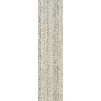 Premium Self-Stick Oatmeal Barcode Planks 9 in. x 36 in. In/Outdoor Carpet (16 Tiles/36 sq. ft./case)