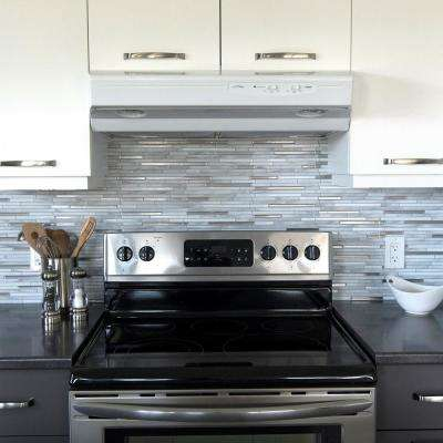 Capri Carrera Approximately 3 in. W x 3 in. H Gray, Silver and White Decorative Mosaic Wall Tile Backsplash Sample