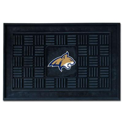 NCAA Montana State University Black 19.5 in. x 31.25 in. Medallion Door Mat