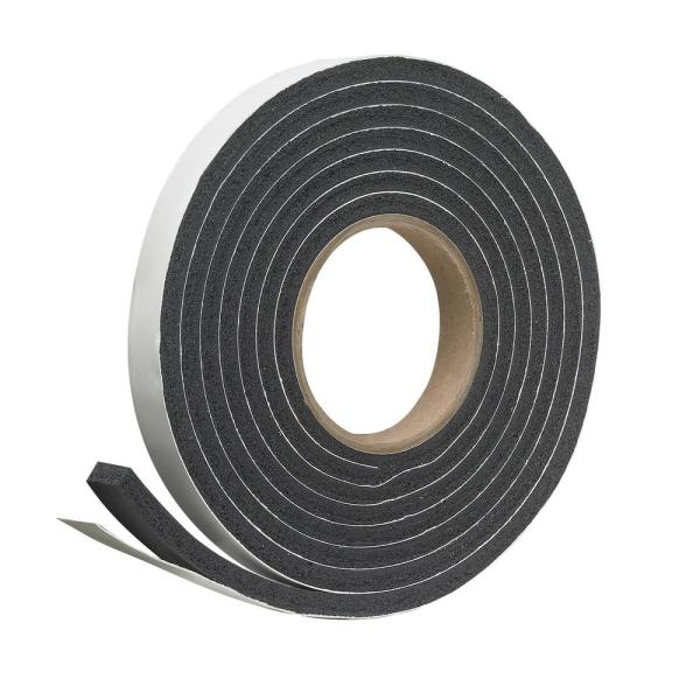 3/4 in. x 5/16 in. x 10 ft. Black Rubber Foam Weatherseal Tape