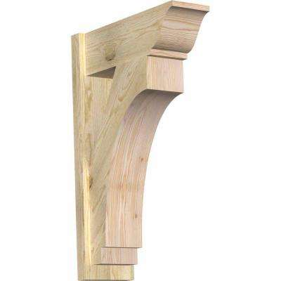8 in. x 34 in. x 22 in. Douglas Fir Imperial Traditional Rough Sawn Outlooker