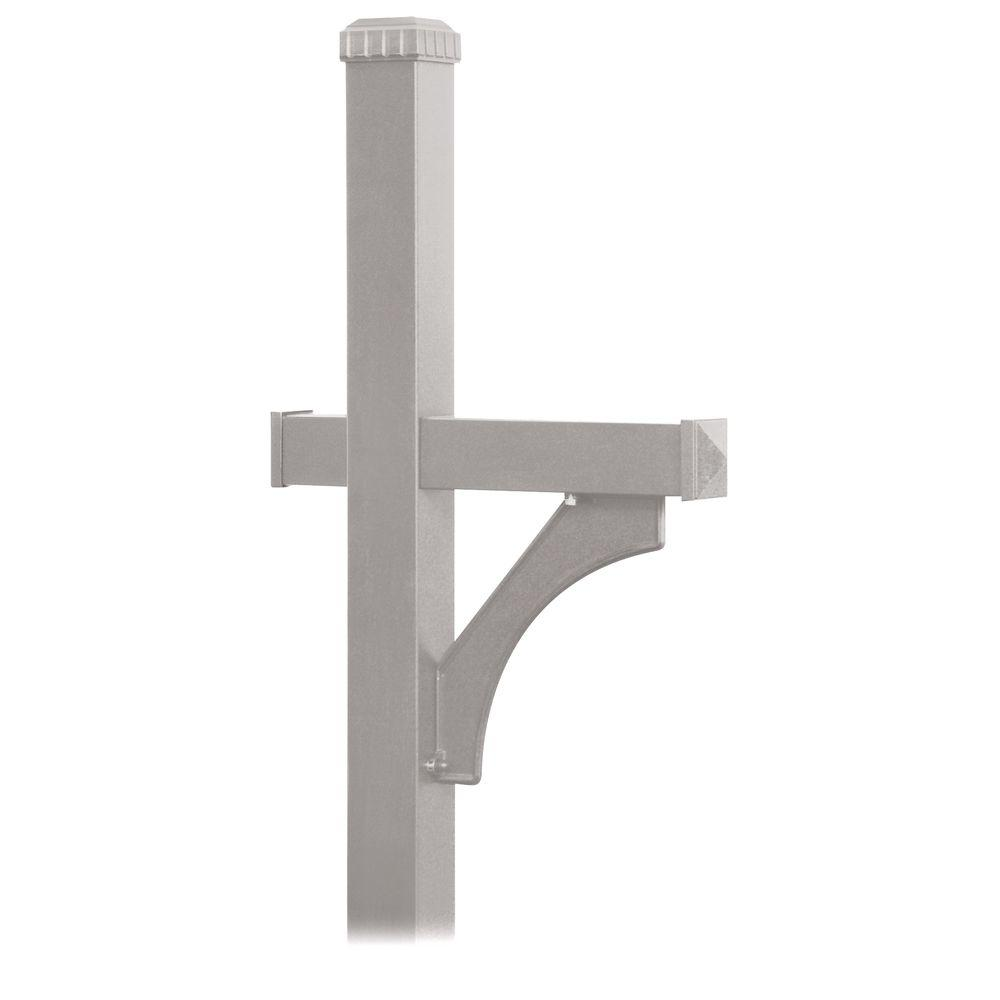 Deluxe 1-Sided In-Ground Mounted Mailbox Post for Designer Roadside Mailbox in