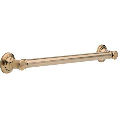 Traditional 24 in. x 1-1/4 in. Concealed Screw ADA-Compliant Decorative Grab Bar in Champagne Bronze