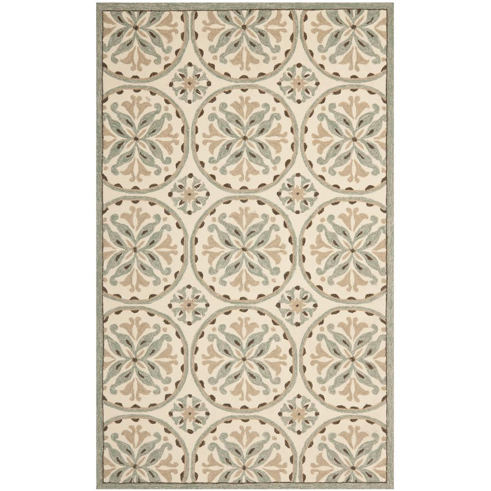 Four Seasons Green/Brown 5 ft. x 8 ft. Area Rug