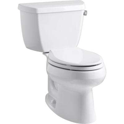 Wellworth 2-piece 1.28 GPF Single Flush Elongated Toilet in White
