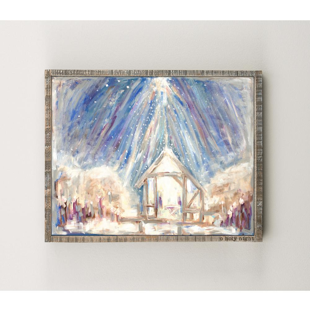 O Holy Night Framed Canvas Wall Art-1191603 - The Home Depot