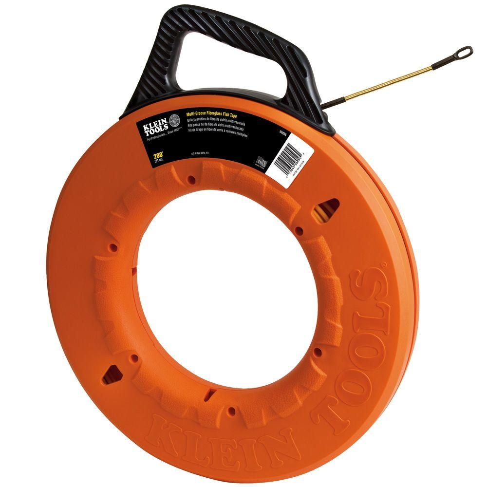 Klein Tools 200 Ft Multi Groove Fiberglass Fish Tape 56056 The 90 To 240v Ac Digital Circuit Breaker Finder Trade Me