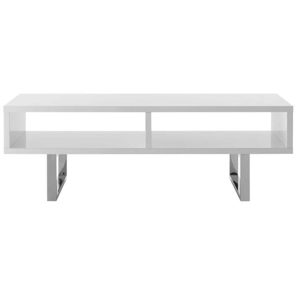 White Low Profile TV Stand