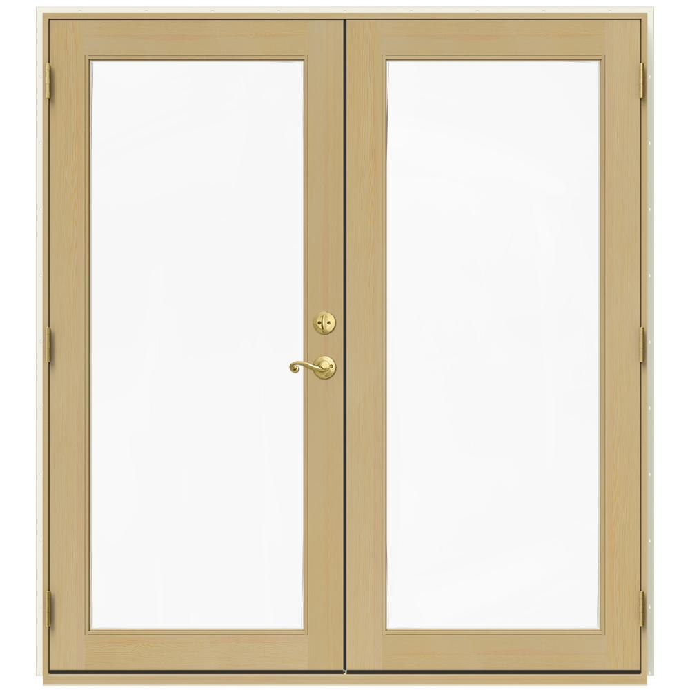 72 in. x 80 in. W-2500 Vanilla Clad Wood Right-Hand Full