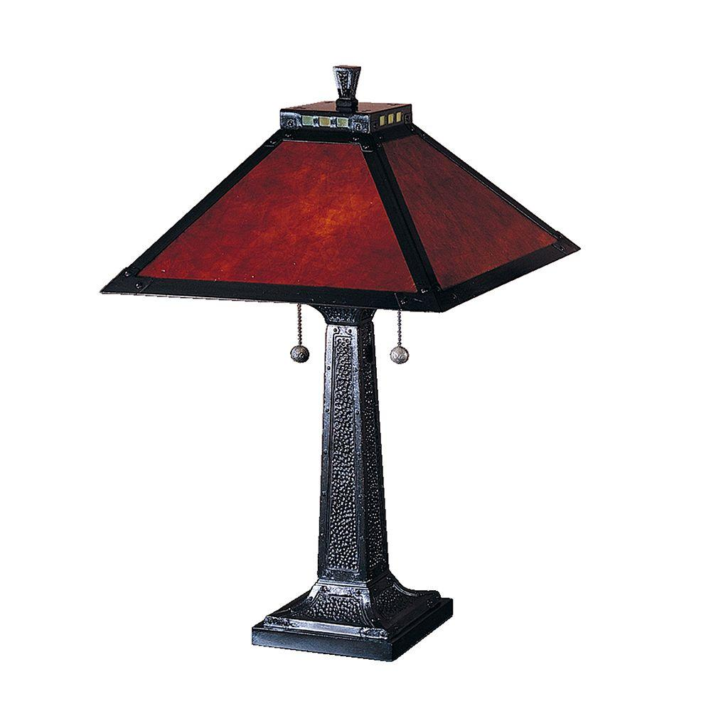 Dale Tiffany 24.5 in. Mica Camelot Mica Bronze Table Lamp