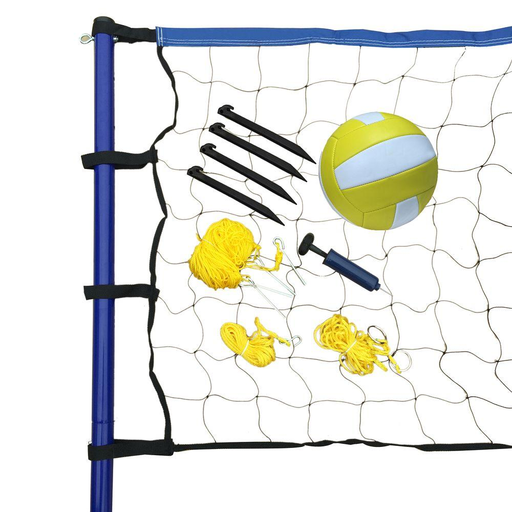 Portable Volleyball Net, Posts, Ball and Pump Set