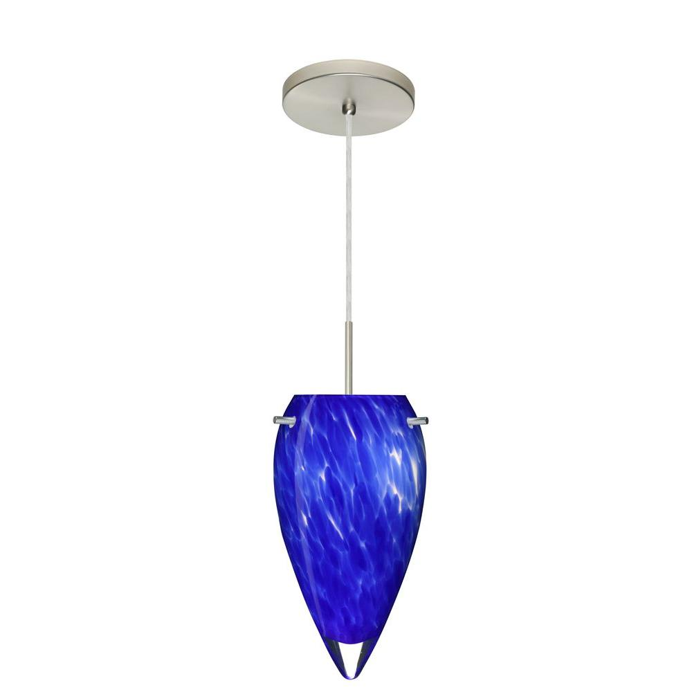 Filament Design Manhattan 1-Light Satin Nickel Pendant
