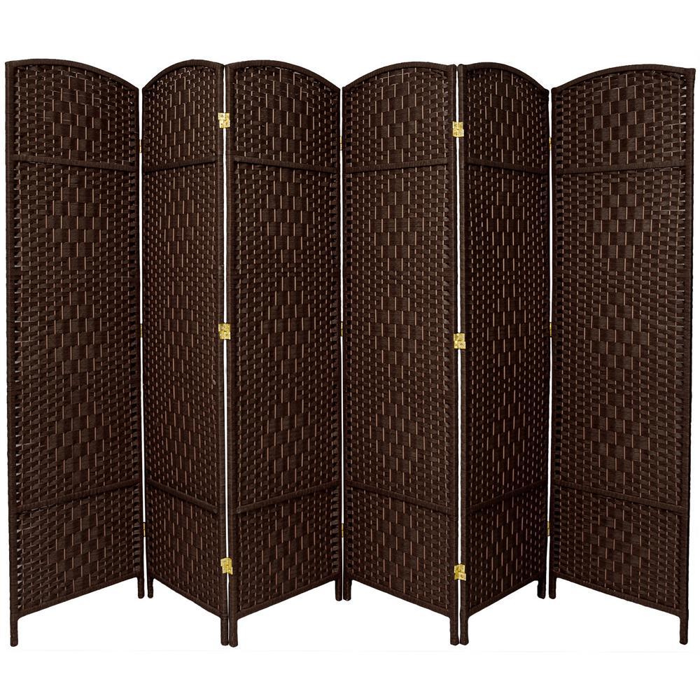 7 ft. Dark Mocha 6-Panel Room Divider