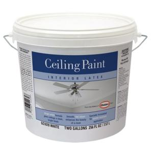 Glidden Ceiling 2 Gal. Bright White Interior Flat Ceiling Paint GC1070 02    The Home Depot