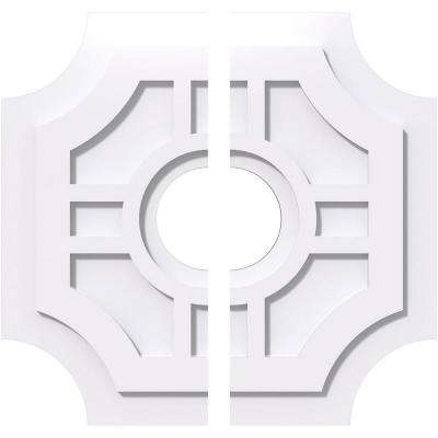 1 in. P X 6-1/2 in. C X 20 in. OD X 5 in. ID Haus Architectural Grade PVC Contemporary Ceiling Medallion, Two Piece