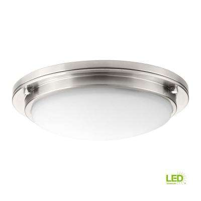 Apogee Collection 30-Watt Brushed Nickel Integrated LED Flush Mount