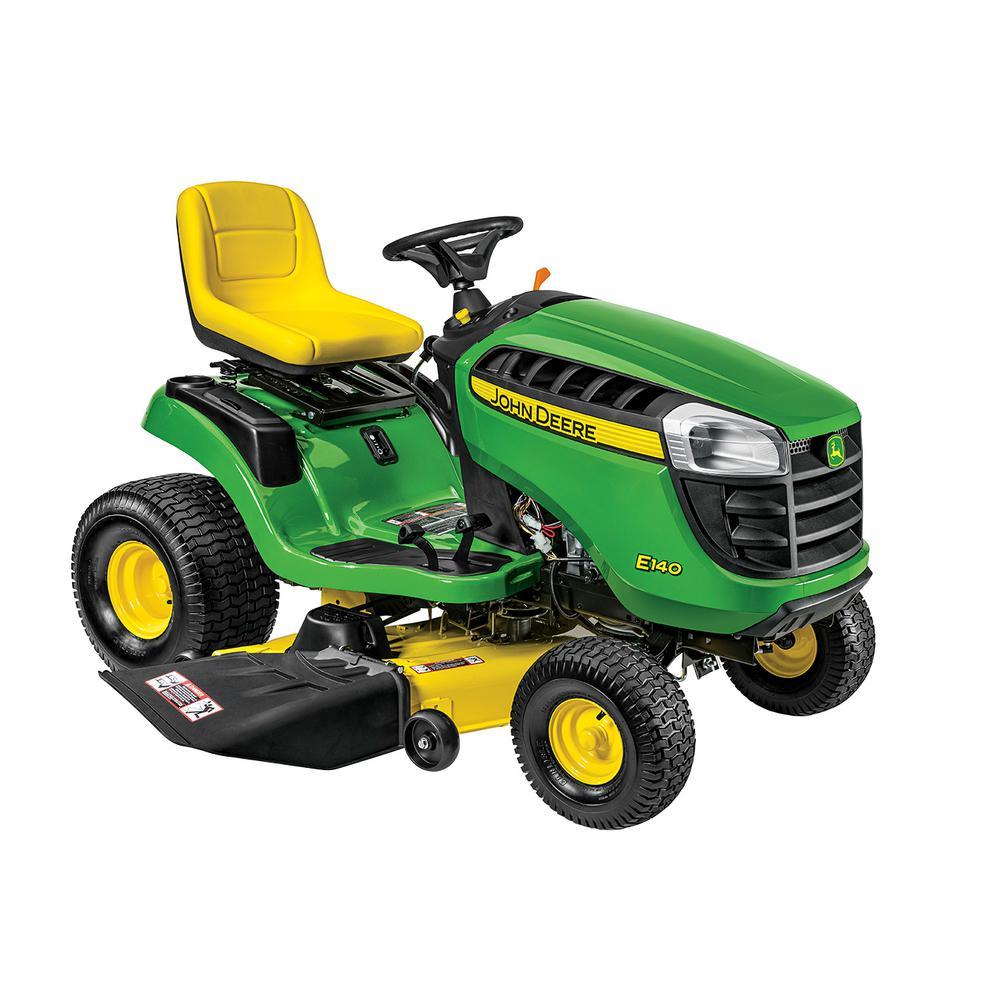 John Deere E140 48 inch 22 HP V-Twin Gas Hydrostatic Lawn Tractor-California Compliant by John Deere