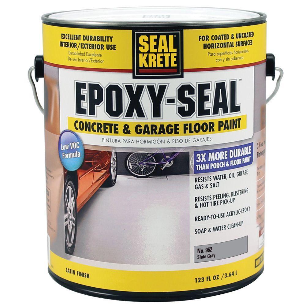 Epoxy Seal Low VOC Slate Gray 962 1 gal. Concrete and Garage Floor Paint