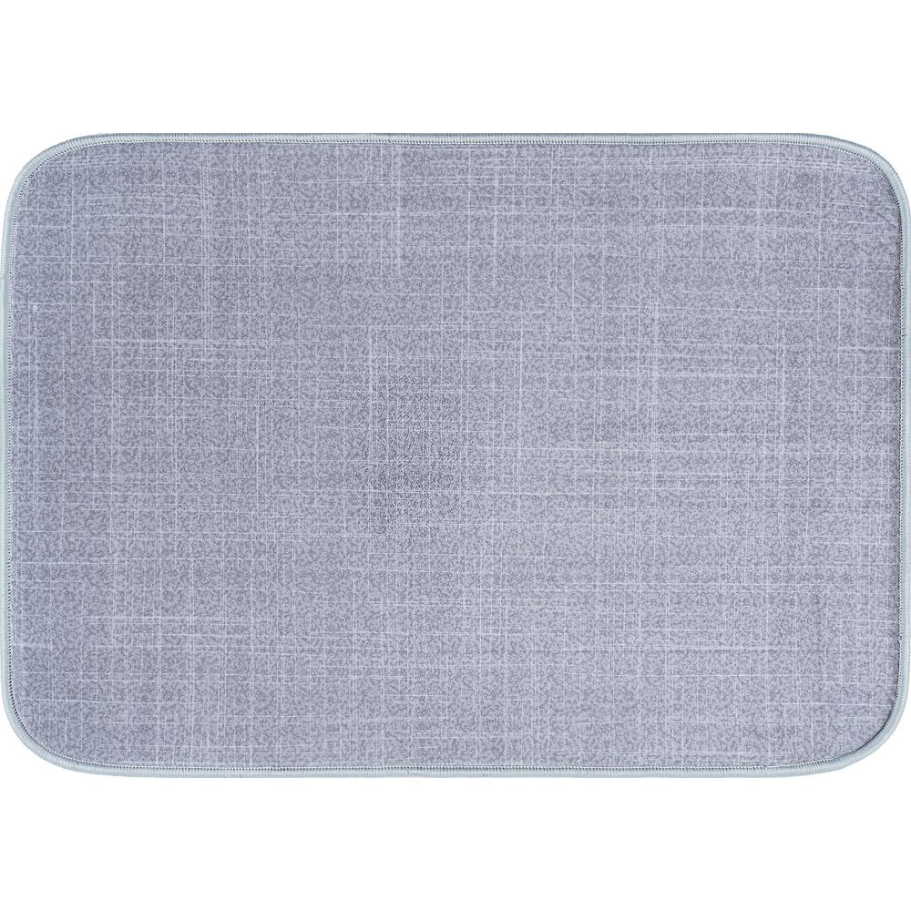 Luxor Home Gray 20 in. x 30 in. Anti-Fatigue Non-Slip Comfort