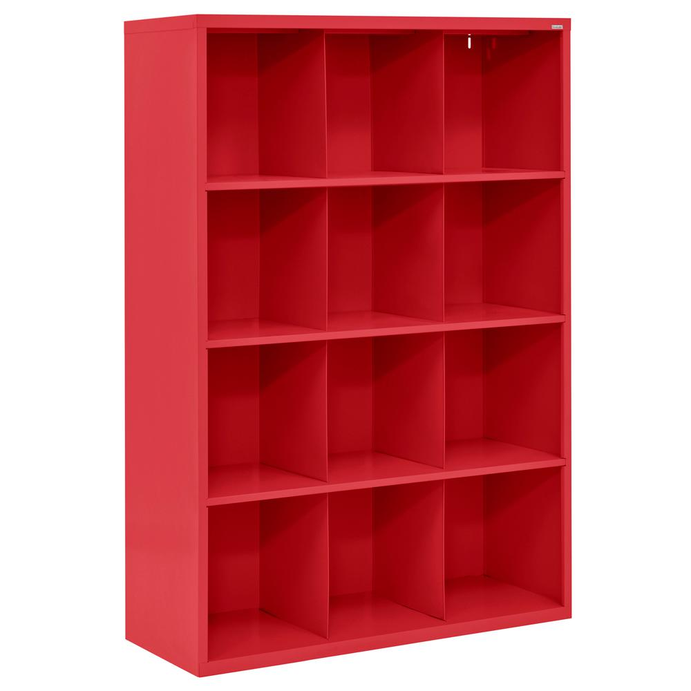 Cubby 46 In. X 66 In. Red 12 Cube Organizer