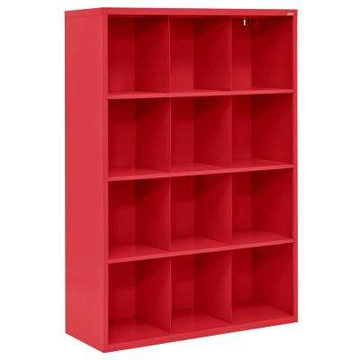 Cubby 46 in. x 66 in. Red 12-Cube Organizer