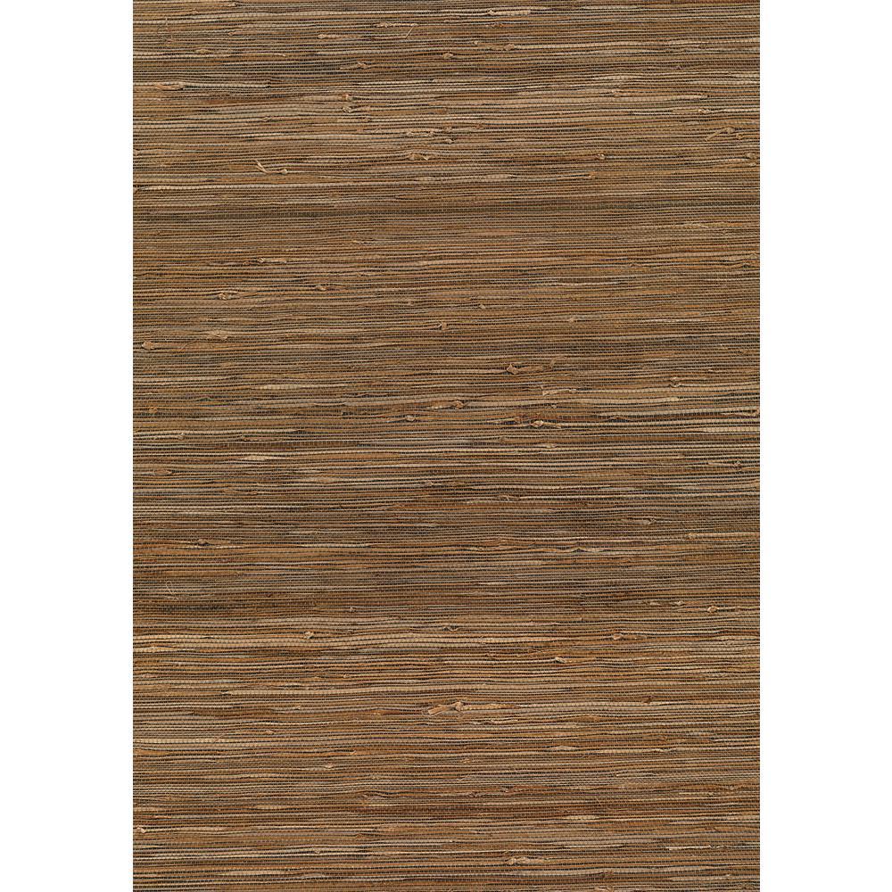 8 in. x 10 in. Kaede Light Brown Grasscloth Wallpaper Sample