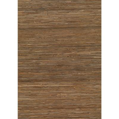 Kaede Light Brown Grasscloth Peelable Wallpaper (Covers 72 sq. ft.)