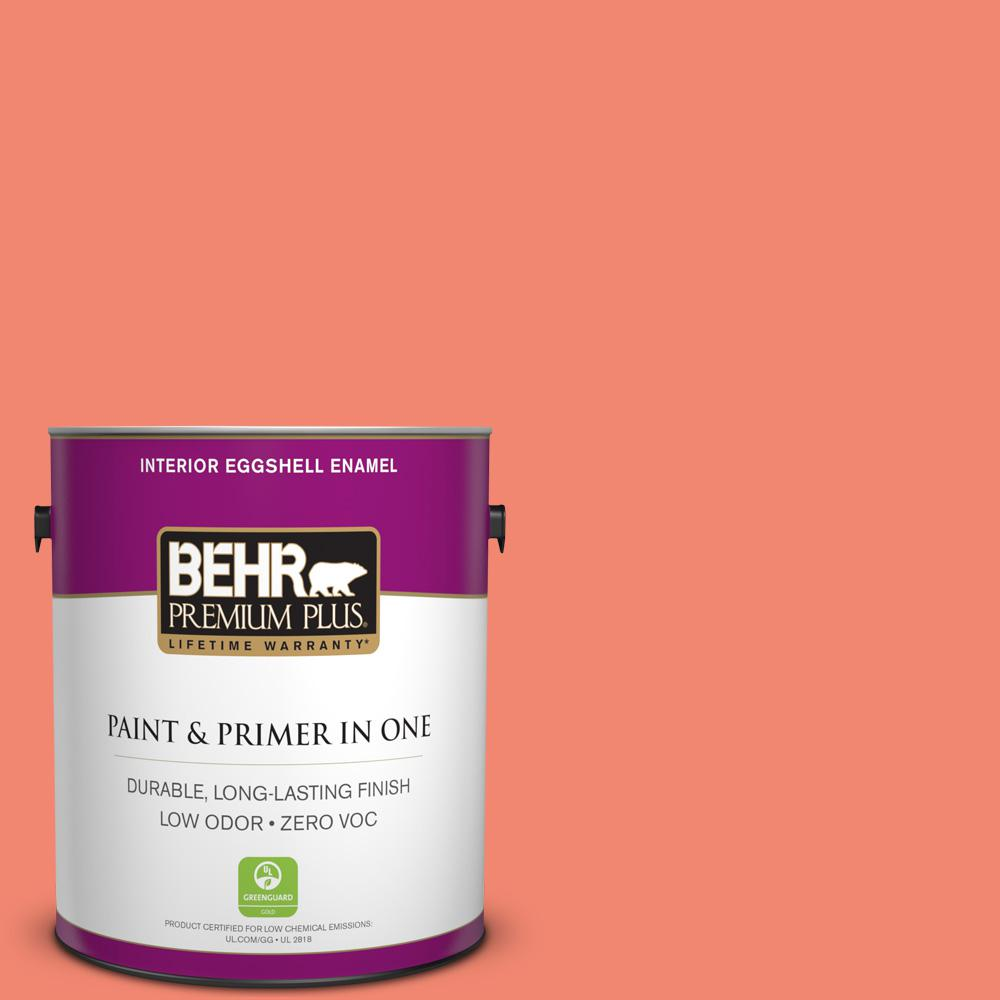 BEHR Premium Plus 1-gal. #190B-5 Juicy Passionfruit Eggshell Enamel Interior Paint